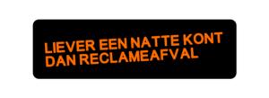 Neenee-sticker voor zadelreclame