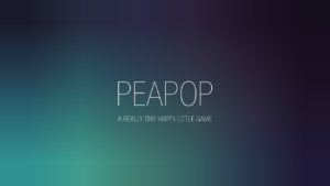 PeaPop - a really small game